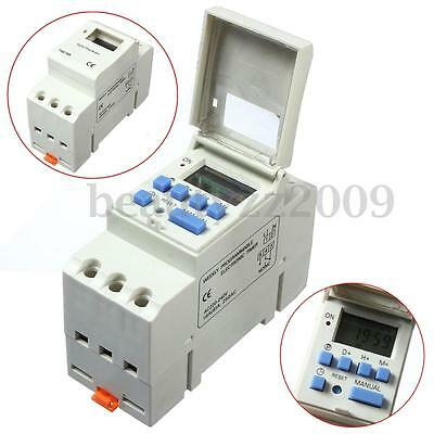 220V 16A DIN Rail Digital Programmable Time Relay Timer Switch DIN Rail Mounting