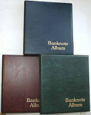 Classic Banknote Album With 6x Mixed Pages To Fit 30 Notes Spare Pages Available