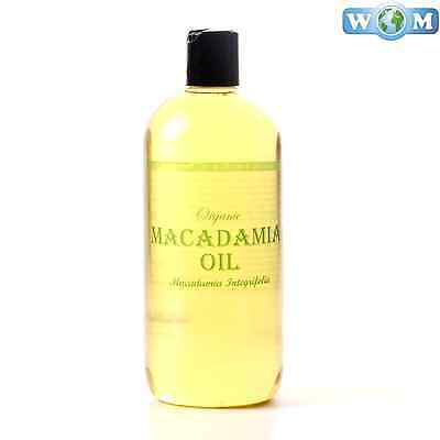 Macadamia Organic Carrier Oil 100% Pure 1 Litre (CO1KMACA)