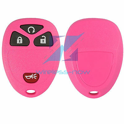 New Pink Replacement Keyless Remote Car Key Fob Shell Case & Pad for 15913421