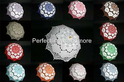 Battenburg Lace Handmade Parasols - many colors