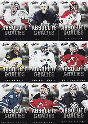 13-14 Panini Boxing Day Absolute Goalies Set 1-17 Cards Price Roy Brodeur