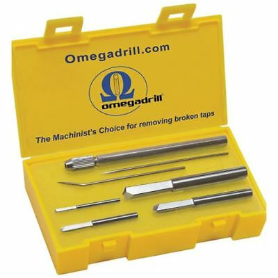 "Omega 4 Pc. Broken Tap Extractor Set Includes 5/64, 1/8, 3/16 & 1/4"" Od-Set1 Usa"