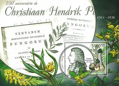 Guinea Bissau 2011 Stamp, GB11710B 250th Year of Christian Hrndrik Persoon,