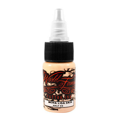 World Famous Color Tattoo Ink Authentic Pigment Mona Lisa Skin 1/2 oz Bottle