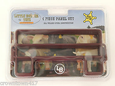 Little Buster 4 Piece Panel Cattle Fence Set Toy Welded Steel Construction
