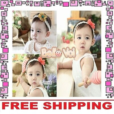Cotton Flower Bow Headband Hair Clothing Accessories Girls Baby Infant Toddler