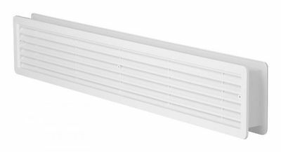 "High Quality Door Air Vent Grilles Two Sided ""WHITE"" Ventilation Grill Cover"