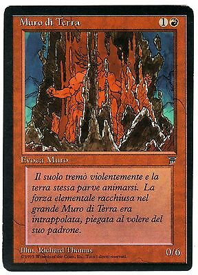 Muro di Terra - Wall of Earth carte MAGIC Leggende (ITALIAN LEGENDS CARD) EXC