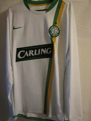 """Celtic 2006-2007 Player Issue Away Football Shirt Size XL 45""""-47"""" LS /8385"""