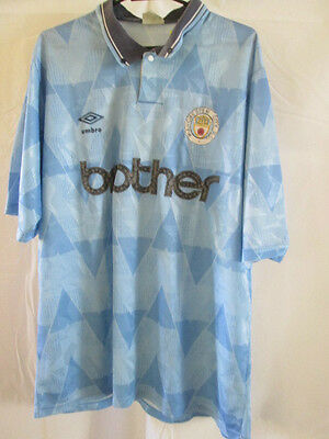 Manchester City 1991-1993 Home Football Shirt Size Extra Large /8465