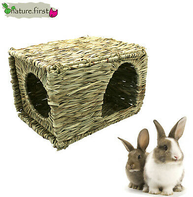 Small Animal Large  Natural Grassy Hideaway Rabbit Guinea Pig Cage House  31048