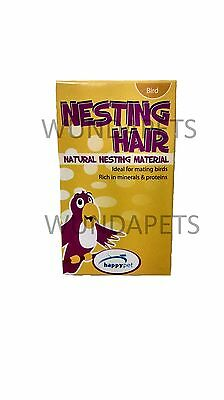 Natural Canary Finch Bird Cage Aviary Nesting Nest Material Hair Small Box 21171