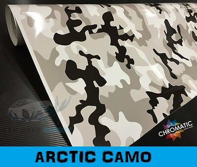Arctic Camouflage Vinyl - 1.52 x 3m - Bubble Free Snow Camo Car Wrap Sticker