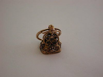 Lovely Antique Victorian 9ct Decorative Gold Fob and Large Gold Jump Ring