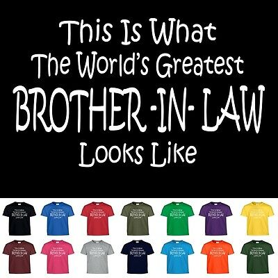 Worlds Greatest BROTHER IN LAW Funny Groomsmen Wedding Christmas Gift T Shirt