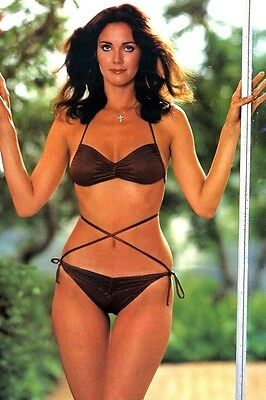 "Lynda Carter busty bikini shot big hair pretty sexy 4""x6"" picture photo s"