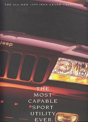 1999 Jeep Grand Cherokee Laredo Limited Deluxe 46-Page Sales Brochure - Mint!
