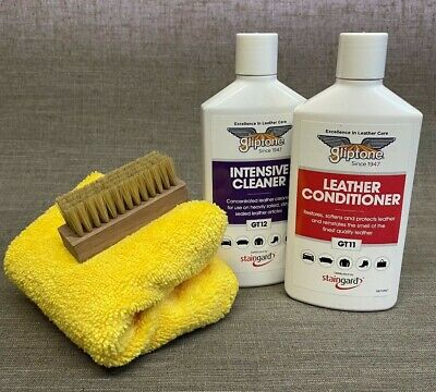 Gliptone Leather Cleaner Kit GT12 & Conditioner GT11 Microfiber & Nail Brush