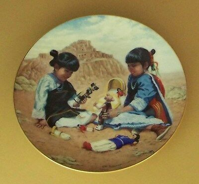 Proud Indian Families PLAYING WITH TRADITION Plate Native American Children