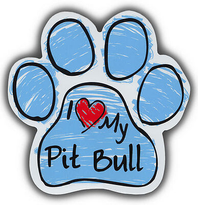 Scribble Paw Dog Magnets: I LOVE MY PITBULL PIT BULL | Cars, Refrigerators
