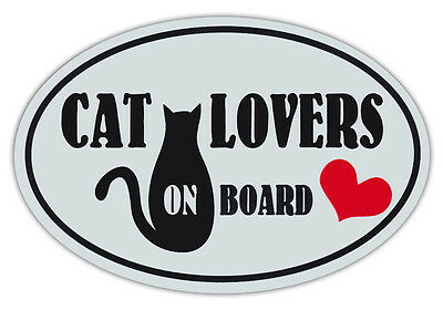 Oval Shaped Pet Magnets: CAT LOVERS ON BOARD (Cats) | Cars, Trucks