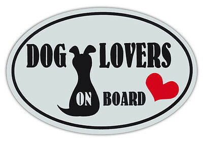 Oval Shaped Pet Magnets: DOG LOVERS ON BOARD (Dogs)   Cars, Trucks