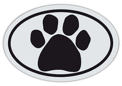 Oval Shaped Pet Magnets: BLACK PAW (Dogs, Cats) | Cars, Trucks, Refrigerators