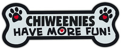 Dog Bone Shaped Magnets: Chiweenies Have More Fun! | Cars, Trucks, Mailboxes