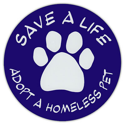 """4.75"""" Round Pet Magnets: SAVE A LIFE 