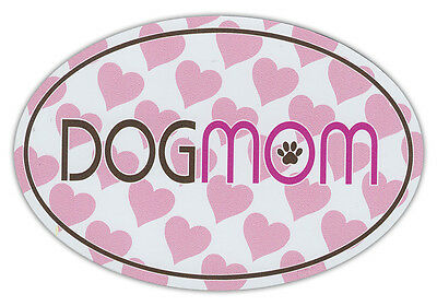 Oval Shaped Pet Magnets: DOG MOM PINK DESIGN (Dogs) | Cars, Trucks