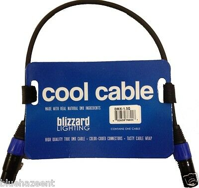 Blizzard Lighting Cool Cable DMX-1.5Q 1.5' 3 pin DMX cable