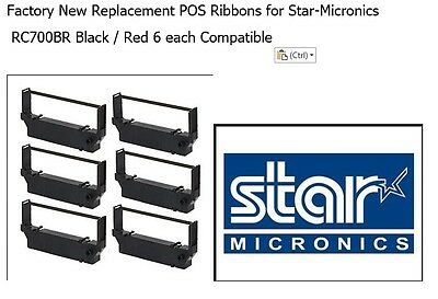 48 Star Micronics SP700 SP712 SP742  MP212,MP216,MP221,MP231 Black//Red Ribbons