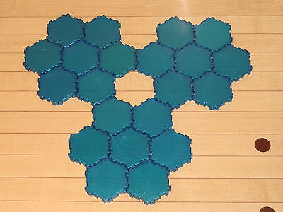 Heroscape Terrain - 21 x 1-Hex Sparkly 1st Ed Water Tiles - Expanded Battlefield