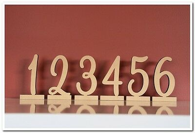 11cm tall wooden freestanding table numbers. Price per a set of 10(from 1 to 10)