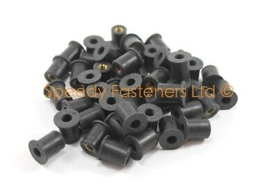 for Kayak Canoe Sailing Outfitting Rubber Well Nuts M5 x 14mm 10 Pack