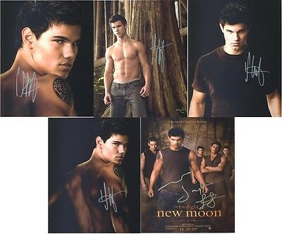 "Taylor Lautner - Twilight New Moon 10 x 8"" Signed PP Autograph"