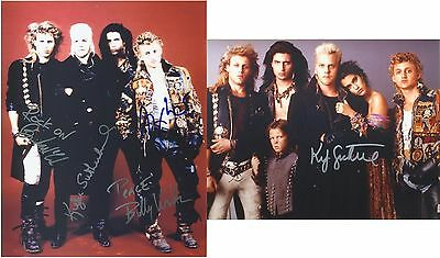 """The Lost Boys Cast by 4 inc. Kiefer Sutherland 10 x 8"""" Signed PP Autograph"""