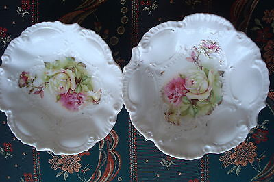 German 2 fruit Bowls decorated with roses,  it may be RS [7i]