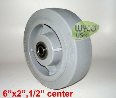 "HI-TECH PERFORMA WHEEL BY COLSON, 6""x2"", 1/2"", PRECISION DOUBLE SEALLED BEARINGS"