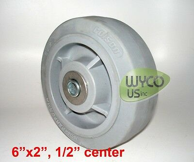 """GRAY HI-TECH PERFORMA WHEEL BY COLSON, 6""""x2"""", 1/2"""", ROLLER BEARING W/ SPANNER"""