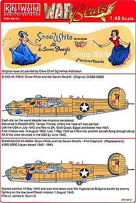 Kits World Decals 1/48 B-24D LIBERATOR Snow White and the Seven Dwarfs (2 Vers)