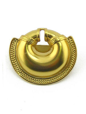 ACROSS THE PUDDLE 24k Gold Plated Pre-Columbian Convex Nose Ring Scarf Ring