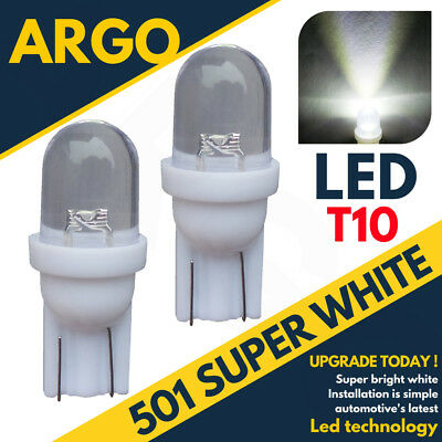 501 Led Number Licence Plate Bulbs Ice White Xenon T10 W5W 194 Wedge Lamp Light