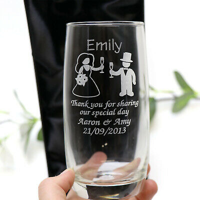 Personalised Gift Boxed Engraved Tumbler Glass Wedding Page Boy Flower Girl