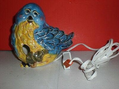 Bird's Flight Bluebird Bird Nightlight Plug Home Decor Figurine Statue Set of 2