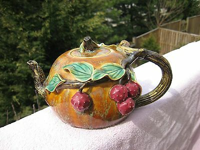 Rare Antique/ Vintage Teapot  Asian Handmade Handpainted