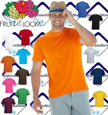 Maglietta Maniche Corte Uomo Fruit Of The Loom Valueweight T-Shirt Manica Corta