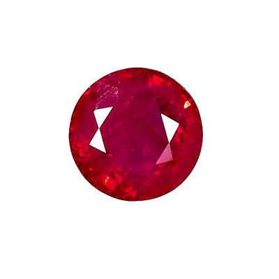 Natural Fine Premium Red Ruby - Round Brilliant - Africa - Top Grade - Loose Gem
