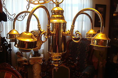 Brass Chandelier, 5 arms, very good condition, ready to hang